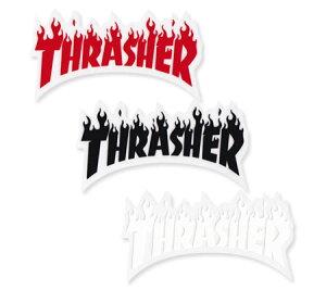 スラッシャー ステッカー ブランド かっこいい おしゃれ アウトドア アメリカン スケボー スケートボード ストリート 車 バイク スーツケース カーステッカー アメリカン雑貨 THRASHER FLAME 【