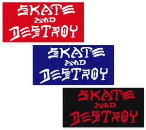 スラッシャー ステッカー ブランド かっこいい おしゃれ アウトドア アメリカン スケボー スケートボード ストリート 車 バイク スーツケース カーステッカー アメリカン雑貨 THRASHER SKATE AND