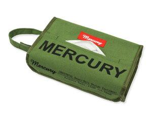 マーキュリー キャンバスティッシュケース 壁掛け おしゃれ ティッシュカバー 車 アメリカ アメリカン雑貨 カーキ 【メール便OK】_MC-MECANTBK-MCR