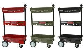 マーキュリー ワゴン キャスター付き 2段 おしゃれ スチール 収納 雑貨 キッチン ガレージ 作業 かっこいい アメリカン アメリカン雑貨 ツールワゴン_MC-METOWA-MCR