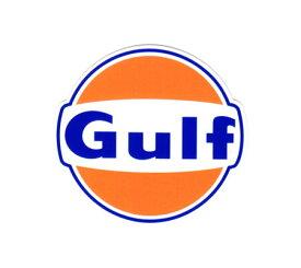 ステッカー 車 アメリカン おしゃれ バイク ヘルメット かっこいい オイル カーステッカー ガルフ Gulf ラウンドロゴ サイズS 【メール便OK】_SC-GULF003-HYS