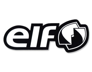 ステッカー 車 アメリカン おしゃれ バイク ヘルメット かっこいい オイル カーステッカー エルフ elf モノトーン サイズL 【メール便OK】_SC-R1016-TMS