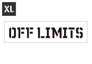 ステンシルシート ステンシルプレート ステンシル アルファベット アメリカン ミリタリー DIY コロナ アメリカン雑貨 プラスチック製 クイックステンシル サイズXL OFF LIMITS 立入禁止_SL-STL130