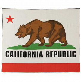 ブランケット ビーチタオル 大判 レジャーシート 大きい おしゃれ タオル 御座 アウトドア マット アメリカン カリフォルニア州旗 CALIFORNIA_TO-150013-SHO