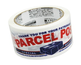 ダルトン テープ 粘着テープ パッキングテープ おしゃれ かわいい 旅行かばん スーツケース デコレーション DIY リメイク 梱包 包装 小包郵便 アメリカ アメリカン雑貨 PARCEL POST_SN-PPT23-DLT