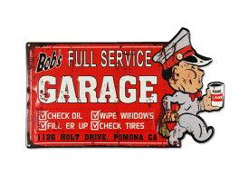 看板 サインプレート サインボード インテリア 雑貨 壁 飾り アメリカン おしゃれ レトロ かっこいい ガレージ アメリカン雑貨 アンティークエンボスプレート BOB'S GARAGE N2104_SP-HLHT18596-FEE