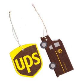 UPS 芳香剤 車 吊り下げ エアフレッシュナー レア おしゃれ アメリカ アメリカン雑貨 2Pセット 【メール便OK】_AF-UPSAF1-UNT