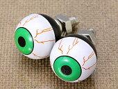 ナンバープレートボルト(ライセンスボルト)2個セット/アイボール/グリーン