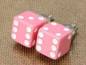 ナンバープレートボルト(ライセンスボルト)2個セット/ダイス(サイコロ)/ピンク