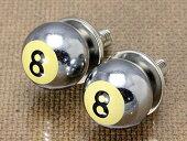ナンバープレートボルト(ライセンスボルト)2個セット/8ボール/クローム