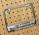 ナンバーフレーム ナンバープレート フレーム バイク用(原付50-125cc) ムーンアイズ(MOONEYES) クローム Custom Cycle Shop ...