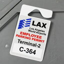 パーキングパーミットタグ カー用品 ルームミラー 飾り カーアクセサリー PARKING PERMIT TAG ロサンゼルス国際空港 …