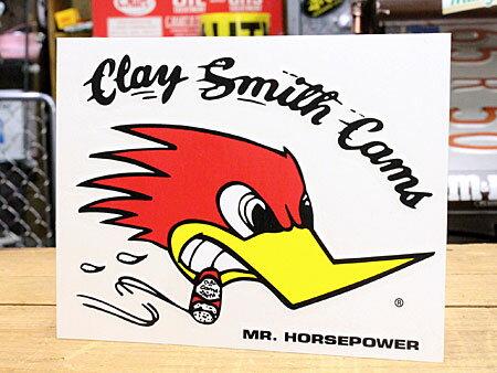 クレイスミス ステッカー 車 アメリカン キャラクター おしゃれ バイク ヘルメット かっこいい ウッドペッカー 鳥 ホットロッド アメ車 カーステッカー Clay Smith 右向き サイズM 【メール便OK】_SC-CSD019R-MON
