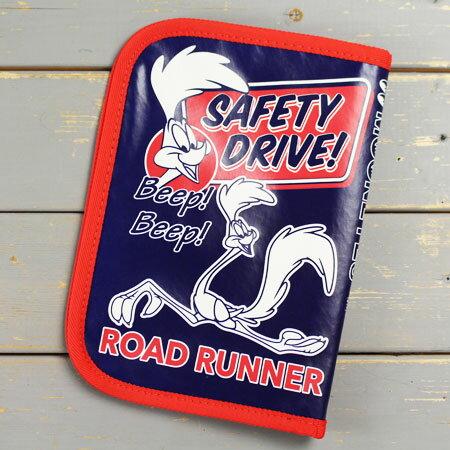 ロードランナー 車検証入れ ケース かっこいい カー用品 カーアクセサリー アメリカ ルーニー・テューンズ キャラクター 【メール便OK】_DF-RR060-MON