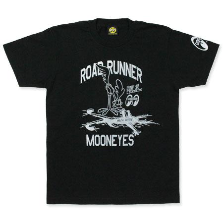 ロードランナー Tシャツ アメカジ メンズ レディース キャラクター ルーニー・テューンズ 半袖 Runs Fast ブラック 【メール便OK】_TS-RRT023BK-MON