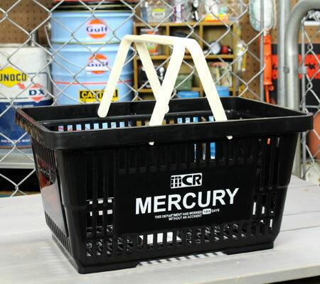 バスケット買い物かごスーパーマーケット洗濯物かごマーキュリーMERCURYブラック