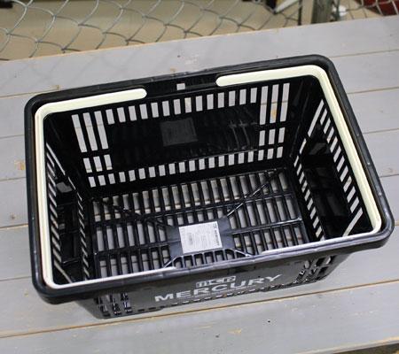 バスケット買い物かごスーパーマーケット洗濯物かごマーキュリーMERCURYブラックの側面