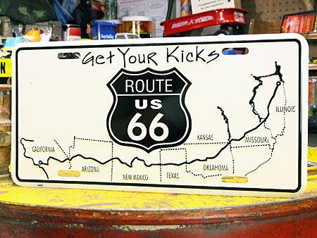 アメリカンライセンスプレートルート66(ROUTE66)GetYourKicks