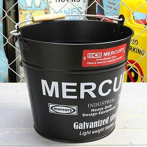 マーキュリー バケツ 洗濯機 おしゃれ ブリキ MERCURY 洗車 キャンプ アウトドア アメリカ アメリカン雑貨 マットブラック_MC-C118MBK-MCR