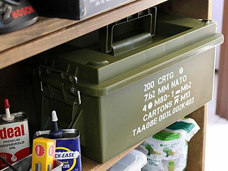 ミリタリーアーモボックスマルチ収納BOXアーミーの使用例1