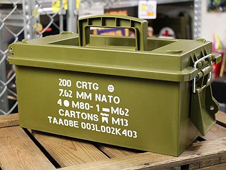 ミリタリーアーモボックスマルチ収納BOXアーミーの使用例2