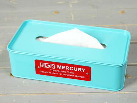 マーキュリー ティッシュケース おしゃれ 車 MERCURY アメリカ アメリカン雑貨 ブルー_MC-C117BL-MCR