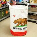 フレキシブルバッグ ファブリック バスケット ランドリーバッグ 収納 カリフォルニア・リパブリック アメリカ アメリカン雑貨 サイズL_SR-396304-SH...