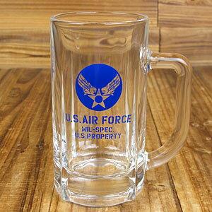 ミリタリー ジョッキ ビール ビアグラス US AIR FORCE アメリカ空軍 アメリカ アメリカン雑貨_TW-016-HYS