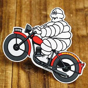 ステッカー 車 ミシュラン アメリカン おしゃれ バイク ヘルメット かっこいい タイヤ フランス ビバンダム ミシュランマン カーステッカー Michelin モト 【メール便OK】_SC-R659-TMS