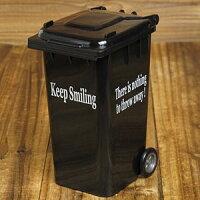 ゴミ箱型小物入れ/ブラック1