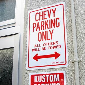 パーキングサインプレート(駐車案内板)