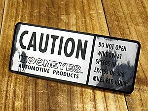ムーンアイズ ステッカー 車 アメリカン おしゃれ バイク ヘルメット かっこいい カーステッカー アメ車 ホットロッド MOONEYES CAUTION 【メール便OK】_SC-DM165-MON