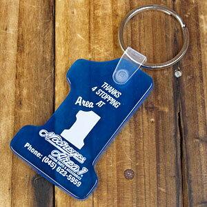 ムーンアイズ キーホルダー キーリング おしゃれ 鍵 車 バイク アメリカ アメリカン雑貨 MOONEYES AREA-1 ブルー 【メール便OK】_KH-MKR011BL-MON