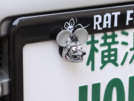 ラットフィンク(RATFINK)ナンバープレートボルト(ライセンスボルト)2個セットグレーの使用例