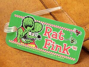 ラットフィンク ネームタグ スーツケース ストラップ ラゲージタグ Rat Fink アメリカ アメリカン雑貨 Face グリーン 【メール便OK】_KH-RAF450GR-MON