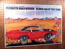 ロードランナー ポスター レトロ ルーニー・テューンズ プリムスロードランナー キャラクター 車 アメ車 アメリカ アメリカン雑貨 CAR OF THE YEA...