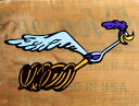 ロードランナー ステッカー ルーニー・テューンズ 車 アメリカン キャラクター おしゃれ バイク ヘルメット かっこいい 鳥 ホットロッド アメ車 カーステッカ...