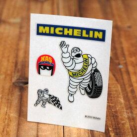ステッカーセット 車 ミシュラン アメリカン おしゃれ バイク ヘルメット かっこいい タイヤ フランス ビバンダム ミシュランマン カーステッカー Michelin レース 【メール便OK】_SC-R861-TMS