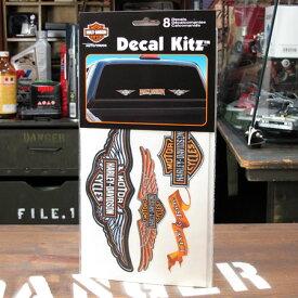 ステッカーセット バイク ハーレーダビッドソン アメリカン おしゃれ 車 ヘルメット かっこいい カーステッカー 8Pセット Decal Kitz 【メール便OK】_SC-DA3900-MON