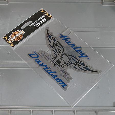 ステッカー バイク ハーレーダビッドソン アメリカン おしゃれ 車 ヘルメット かっこいい カーステッカー シルバーイーグル 【メール便OK】_SC-HDS413-FNM