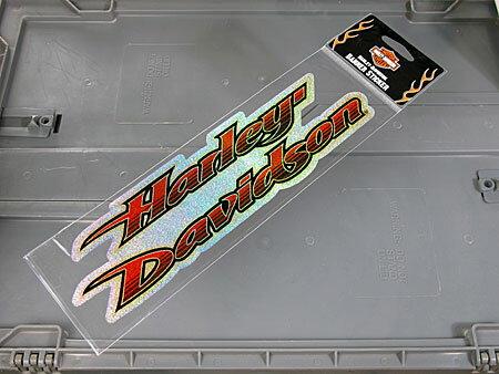ステッカー バイク ハーレーダビッドソン アメリカン おしゃれ 車 ヘルメット かっこいい カーステッカー グリッターロゴ 【メール便OK】_SC-HDS416-FNM