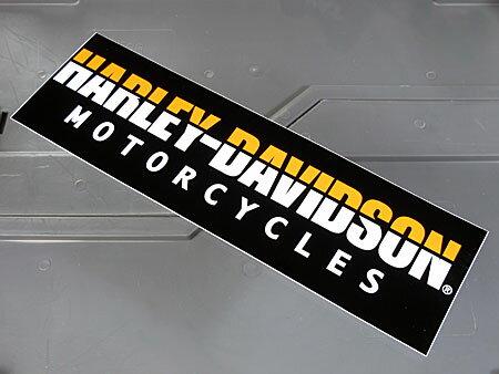 アメリカンバイクブランドバンパーステッカーハーレーダビッドソンHARLEY-DAVIDSONMOTORCYCLESのアップ