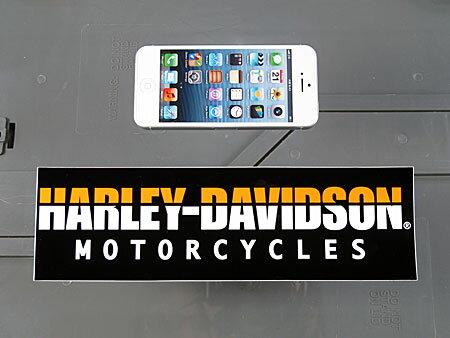 アメリカンバイクブランドバンパーステッカーハーレーダビッドソンHARLEY-DAVIDSONMOTORCYCLESの大きさ