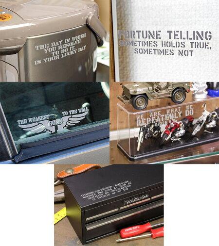 ステッカー車ステンシルステッカー転写タイプ送料無料アメリカンミリタリーカーステッカー5枚セット02の使用例