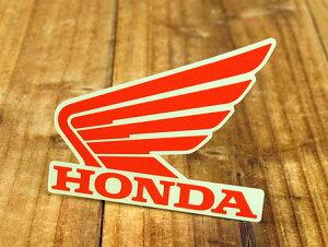 ステッカー ホンダ 車 アメリカン おしゃれ バイク ヘルメット かっこいい カーステッカー HONDA ウイング レッド 左向き 【メール便OK】_SC-R318-TMS