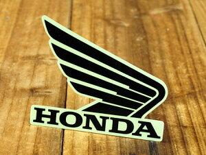 ステッカー ホンダ 車 アメリカン おしゃれ バイク ヘルメット かっこいい カーステッカー HONDA ウイング ブラック 右向き 【メール便OK】_SC-R340-TMS