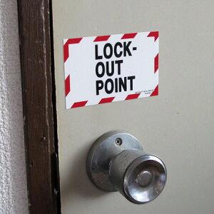 デンジャーラベルステッカー「閉鎖されています」の使用例