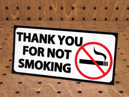 ステッカー アメリカン インテリア サイン 表示 案内 注意 おしゃれ かっこいい 「禁煙にご協力ありがとうございます」 【メール便OK】_SC-PS01-LFS