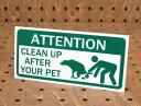 ステッカー アメリカン インテリア サイン 表示 案内 注意 おしゃれ かっこいい 「ペットのフンは片づけてください」 …