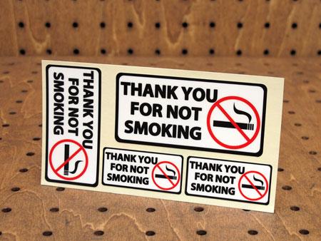 ステッカーセット 車 アメリカン インテリア サイン 表示 案内 注意 おしゃれ かっこいい 「禁煙にご協力ありがとうございます」 【メール便OK】_SC-PSV1-LFS